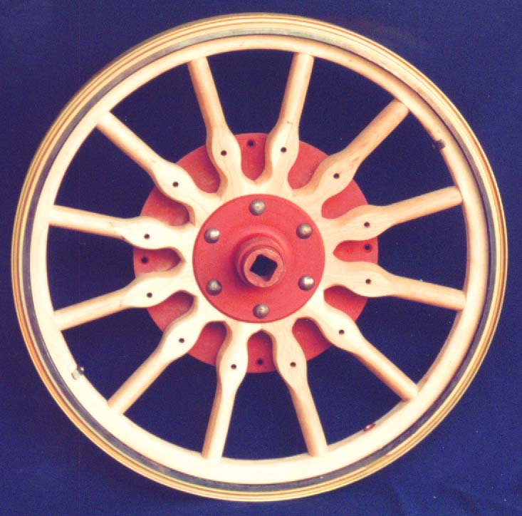 Calimers Wheel Shop: Wooden Wheels Made for Antique Autos.